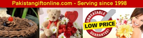 Send Gifts to Pakistan - Online Gifts to Pakistan service, send flowers, cakes, chocolates and other gift to pakistan, flowers delivery and gifts service to karachi, lahore, islamabad and rawalpindi